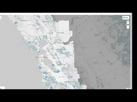 Map Of Conservation Areas In The San Francisco Bay Area