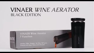 VINAER 7 Function Wine Aerator Black Edition