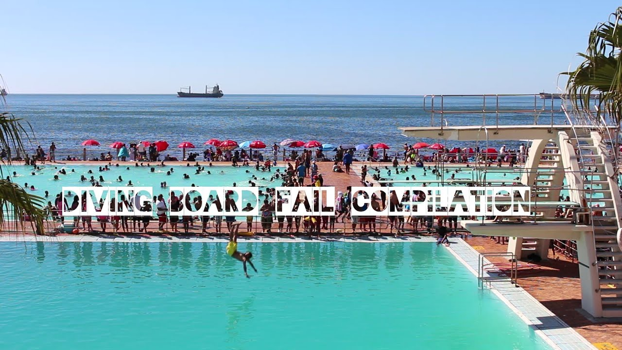 Public Swimming Pools With Diving Boards diving board fail compilation - sea point pavilion pool in cape