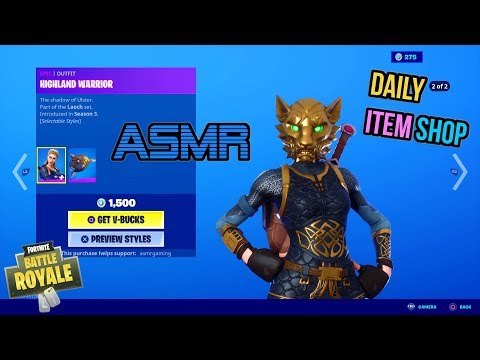 ASMR | Fortnite NEW Highland Warrior Style! Daily Item Shop Update 🎮🎧 Relaxing Whispering 😴💤