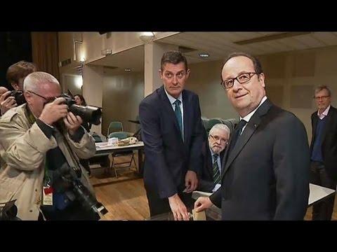مُرشَّحو انتخابات فرنسا الرئاسية يُدلون بأصواتهم  - نشر قبل 15 دقيقة
