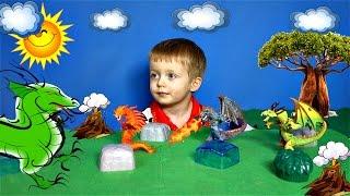 ДРАКОНЫ СТИХИЙ #2 Игрушки Сказка про Драконов  Видео для Детей про Драконов Lion boy