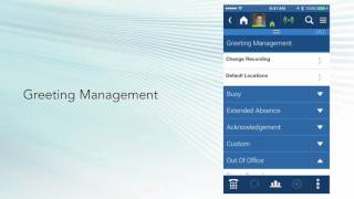 UCedge Client for Smartphone – Greeting Management and Visual Voice Mail