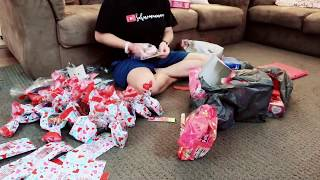(reupload) Making Valentine Treat Bags | time lapse