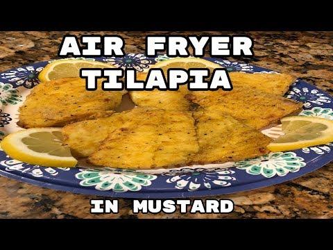 AIR FRYER TILAPIA In Mustard