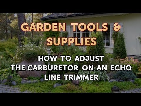 How to Adjust the Carburetor on an Echo Line Trimmer