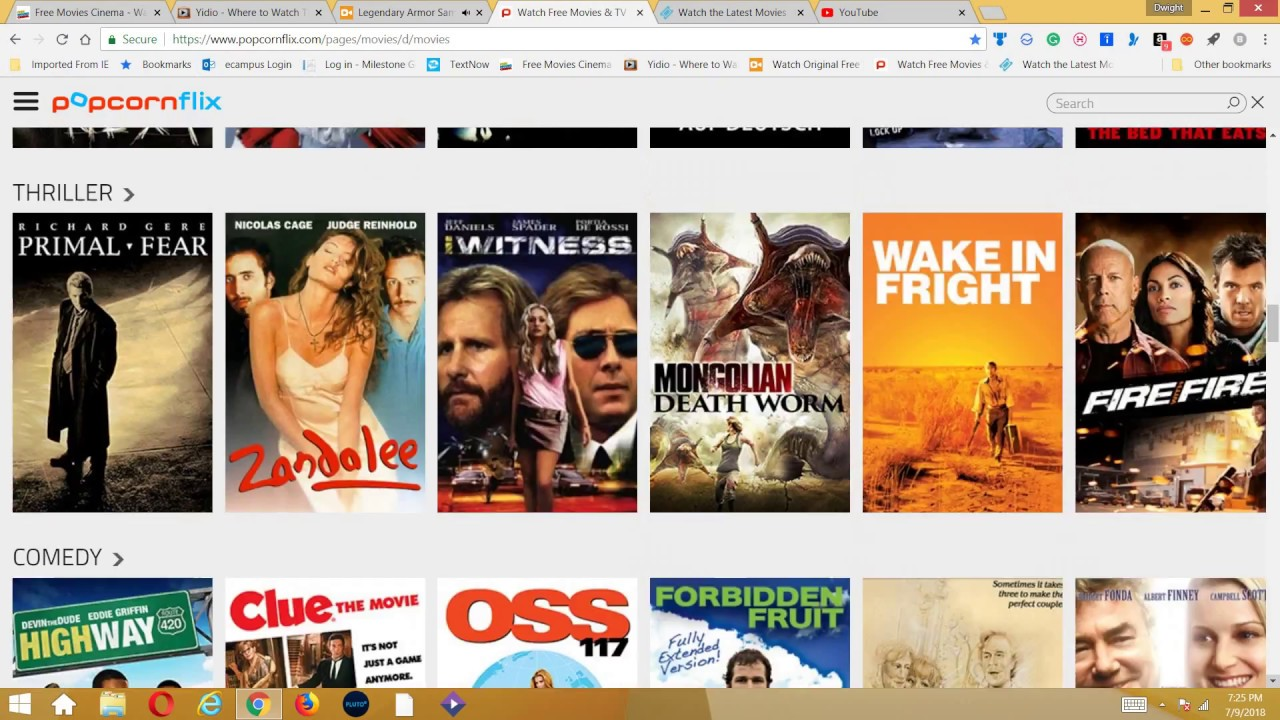 working websites to watch free movies