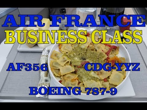 Flight Report: AIR FRANCE Business Class 787-9 AF356 CDG-YYZ