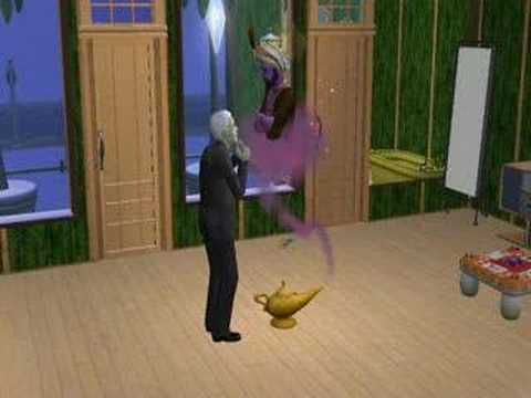 Sims 2 Free Time - Calling the Lamp Genie - YouTube