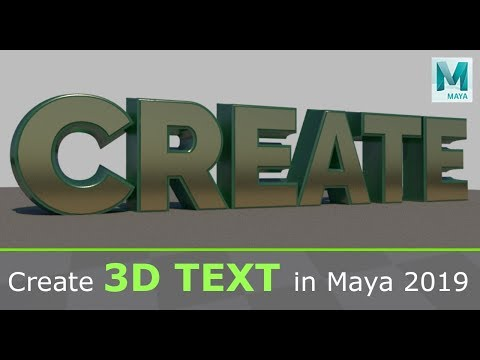 Create 3D Text In Maya 2019