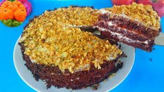 Шоколадный торт Выручайка на кефире Получается всегда Простой рецепт Пальчики оближешь
