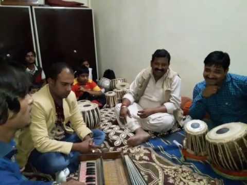 Sandeep jadiya playing Tabla with nice ghazal  singer Dusyant Rupolia 1