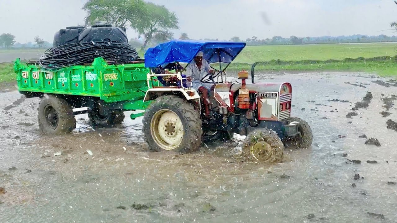 Part-2 | Eicher 242 Spray Pump Setting going for Spray खेतों में कचरे की दवाई का छिड़काव ट्रैक्टर से
