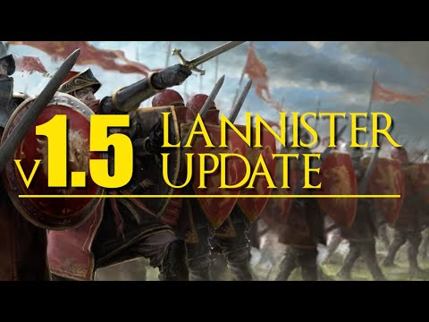 House Lannister v.1.5 updates for A Song of Ice and Fire the Miniatures Game
