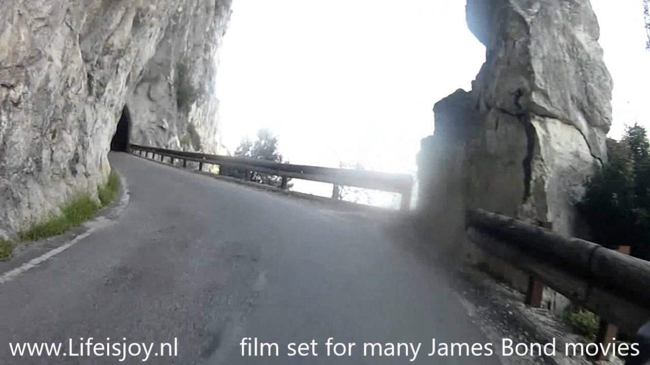 Strada della Forra lake Garda Italy narrow road straight