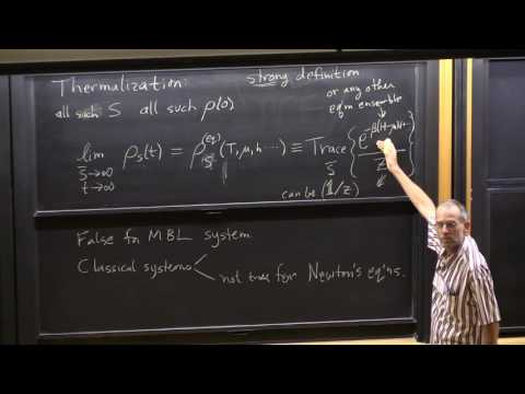 "Prof. David Huse, ""Quantum Thermalization"", Lecture 1(05) of 2"