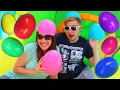 Giant Egg Hunt Little Tikes 2 in 1 Wet 'n Dry Bounce House Surprise Toys Challenge DisneyCarToys