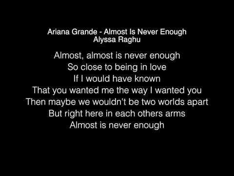 Alyssa Raghu - Almost Is Never Enough Lyrics (Ariana Grande) American Idol 2018