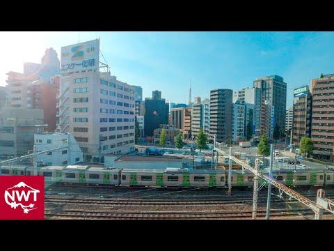 Tokyo Monorail Side Window View Hamamatsucho To Haneda Airport 4K