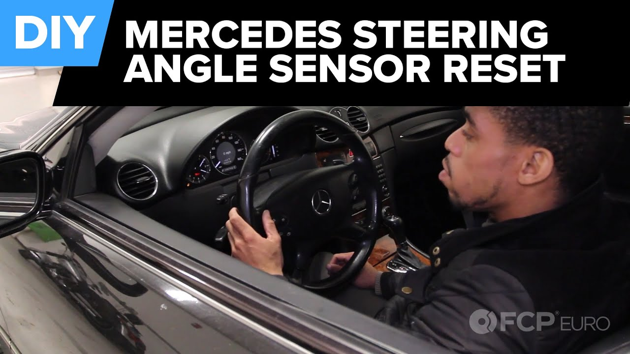how to reset the steering angle sensor on any mercedes no tools  [ 1280 x 720 Pixel ]