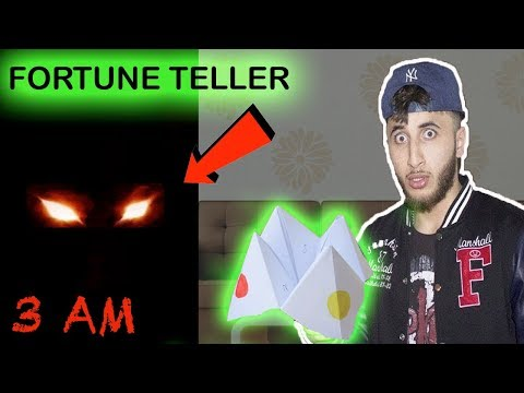 (SCARY!) PLAYING FORTUNE TELLER GHOST PAPER CHALLENGE AT 3 AM!!