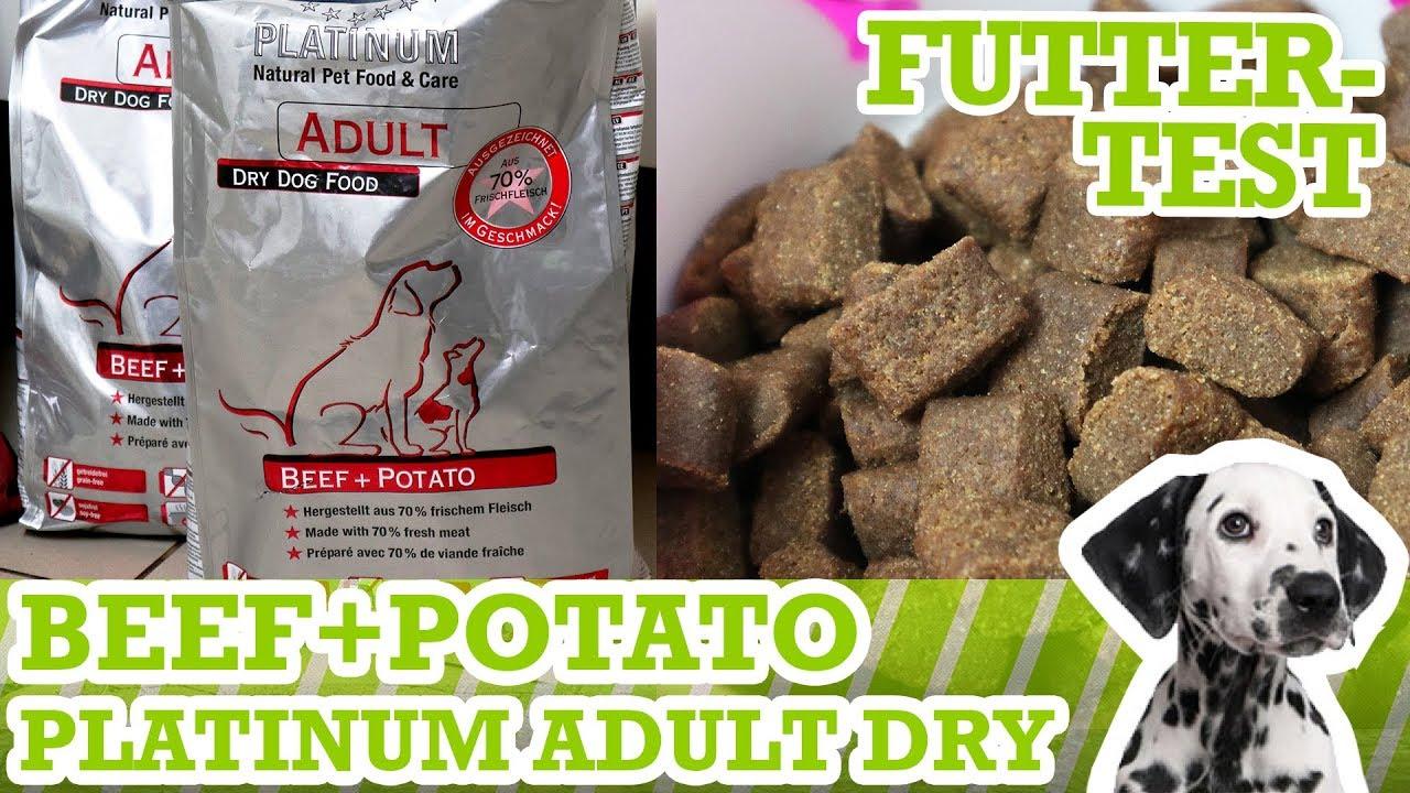 Hundefuttertest Platinum Adult Beef+Potato - Inhalt, Geruch & Preis-Leistung