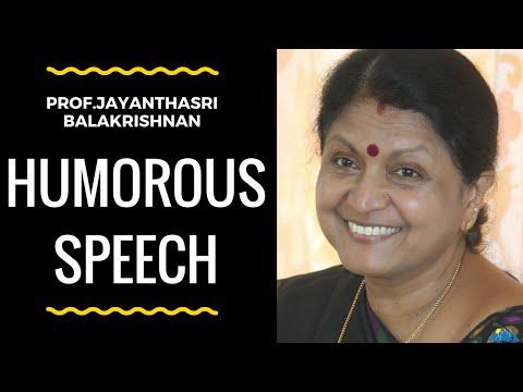 Prof.Jayanthasri Balakrishnan latest Humorous speech |  HD