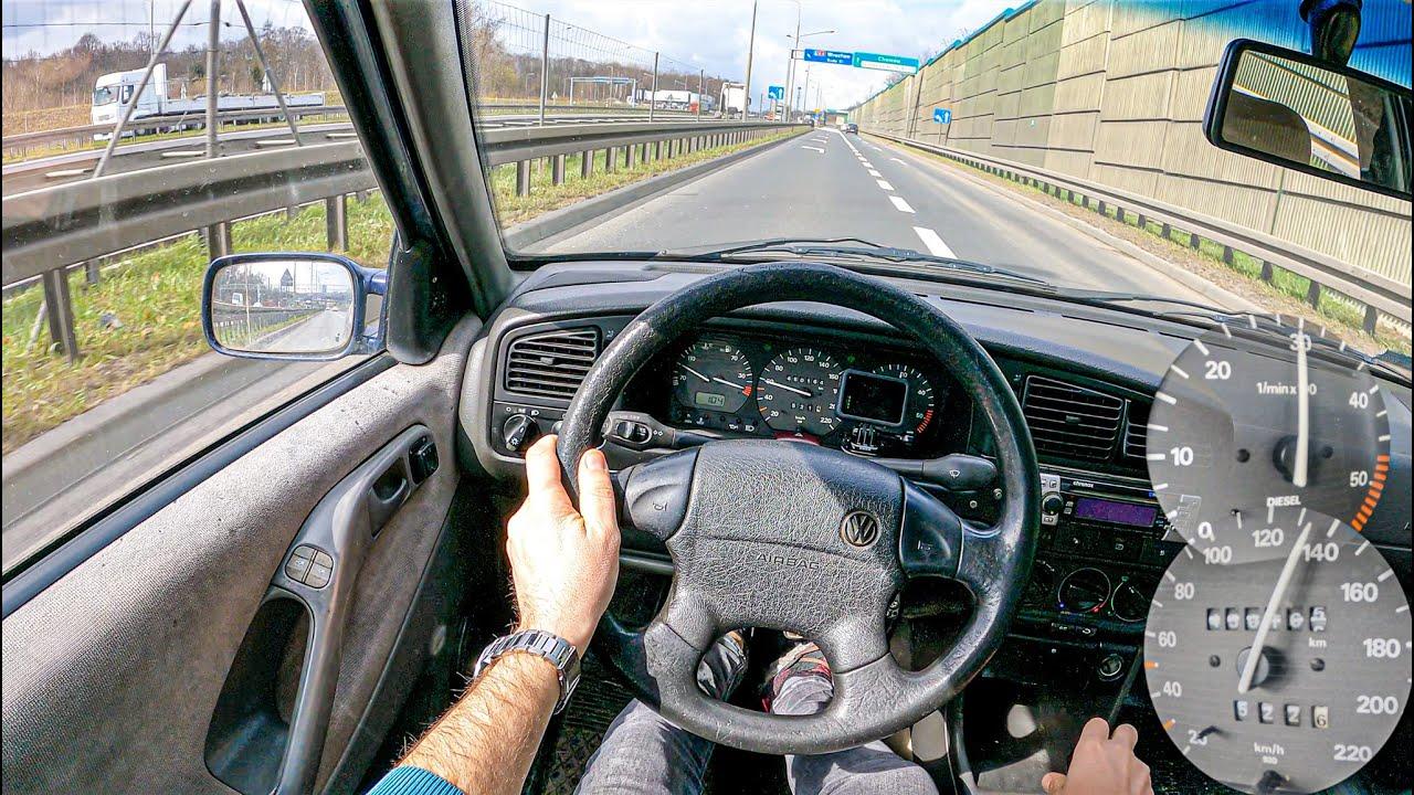 1994 Volkswagen Passat B4 (1.9 TDI 90 HP)   POV Test Drive #739 Joe Black