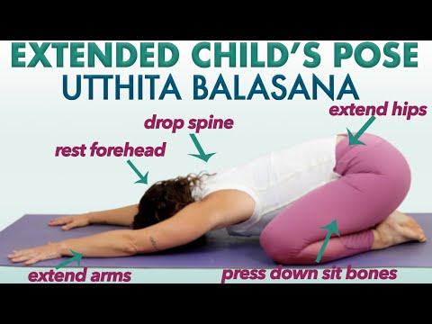how you can do child's pose balasana in yoga  fitness