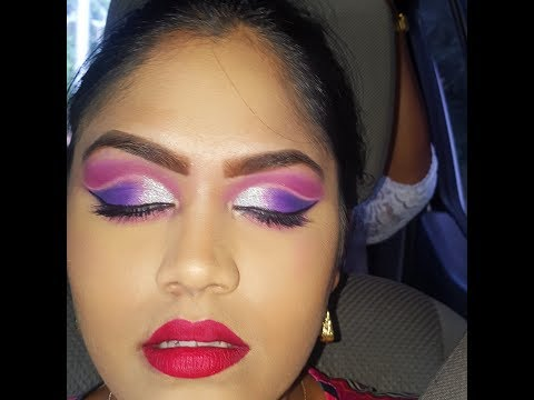 DRAMATIC Purple, Pink and Silver Cut Crease for a Prayers