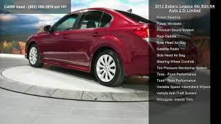 2012 Subaru Legacy 4dr Sdn H4 Auto 2.5i Limited
