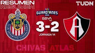 Resumen y goles | Chivas 3-2 Atlas | Guard1anes 2020 Liga BBVA MX - J14 | TUDN