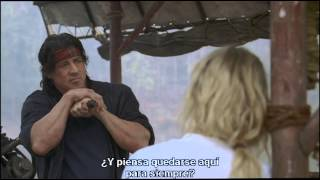 "John Rambo |BTS| Deleted Scenes #3 ""Rambo and Sarah"" (Sub. Spanish)"