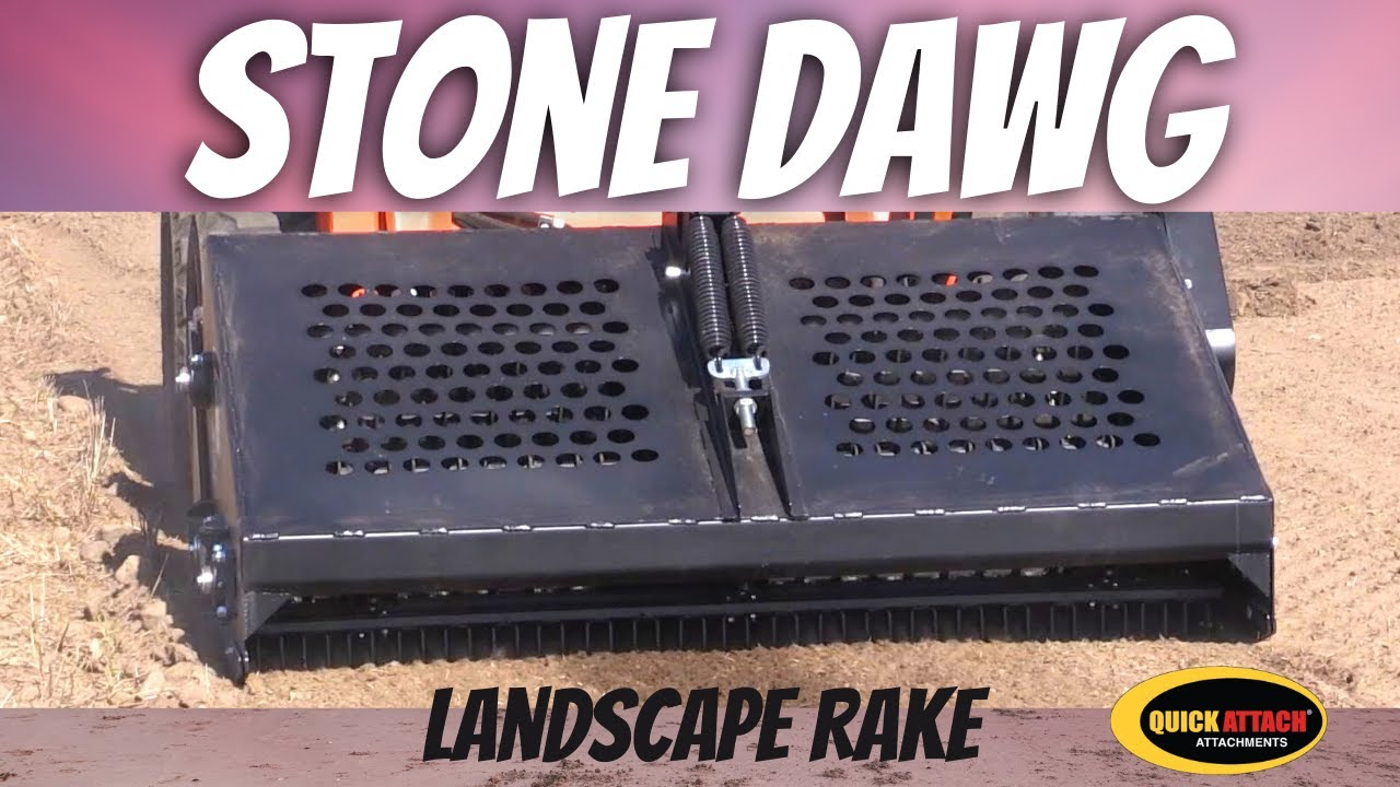 quick attach stone dawg skid steer compact track loader landscape