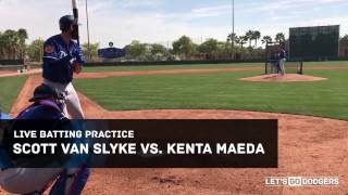 Scott Van Slyke vs Kenta Maeda live batting practice
