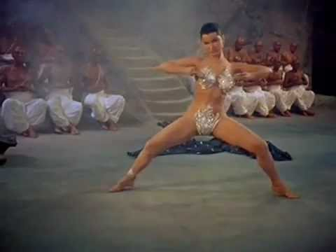 Debra Paget doing the Snake Dance from The Indian Tomb (Das indische Grabmal) - 1960