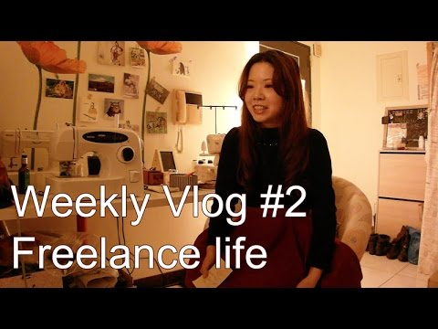 Weekly Vlog #2 My life as a freelance handmade clothing designer in Taiwan