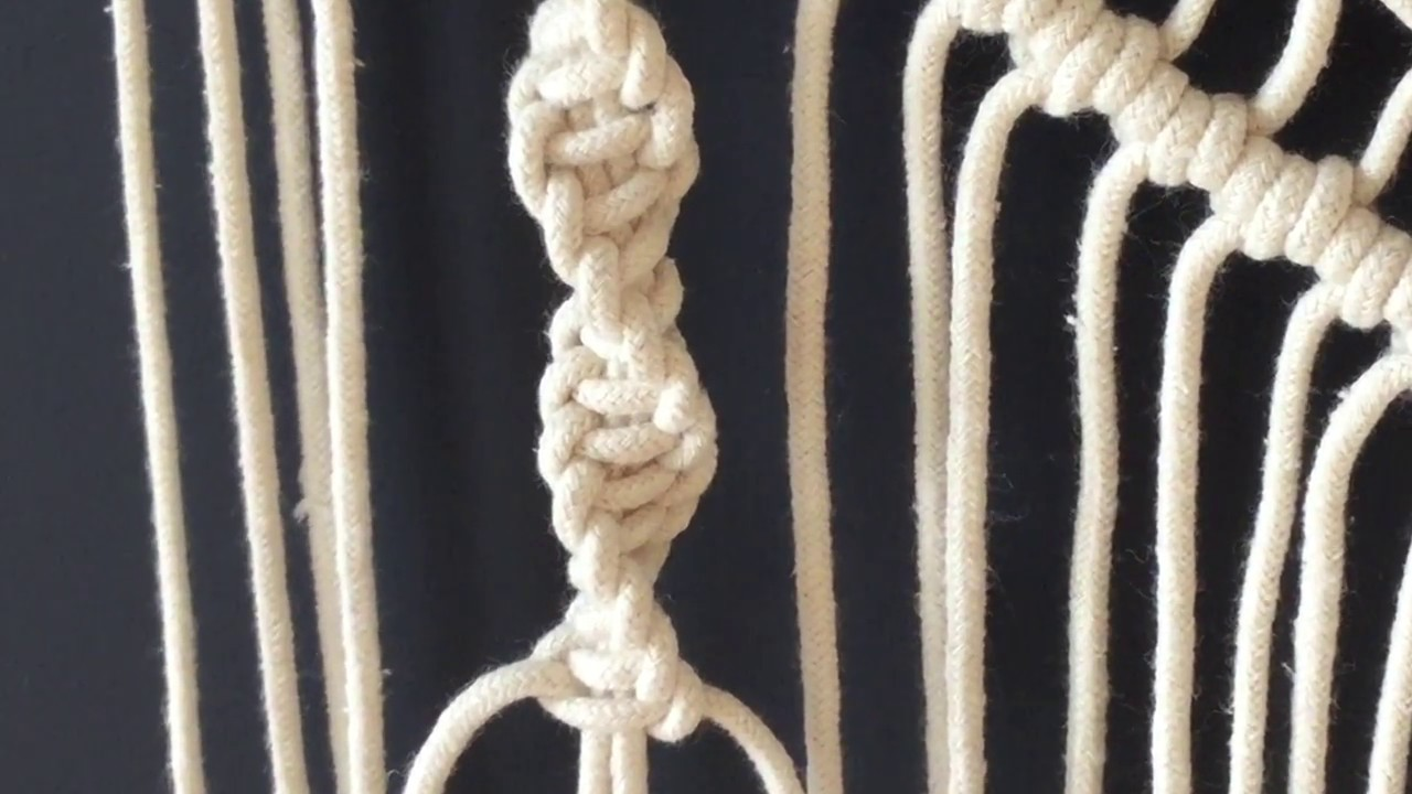 How To Do Macrame Knots Half Square Knot Spiral Youtube Diagram