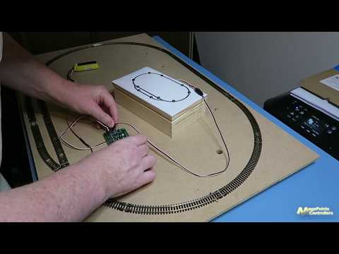 Model Railway optical block detector hook up and demo - YouTube