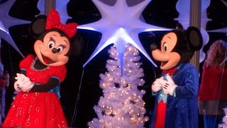 Fashion Island 2015 Christmas tree lighting ceremony with Mickey, Minnie, Donald, Goofy, and Olaf