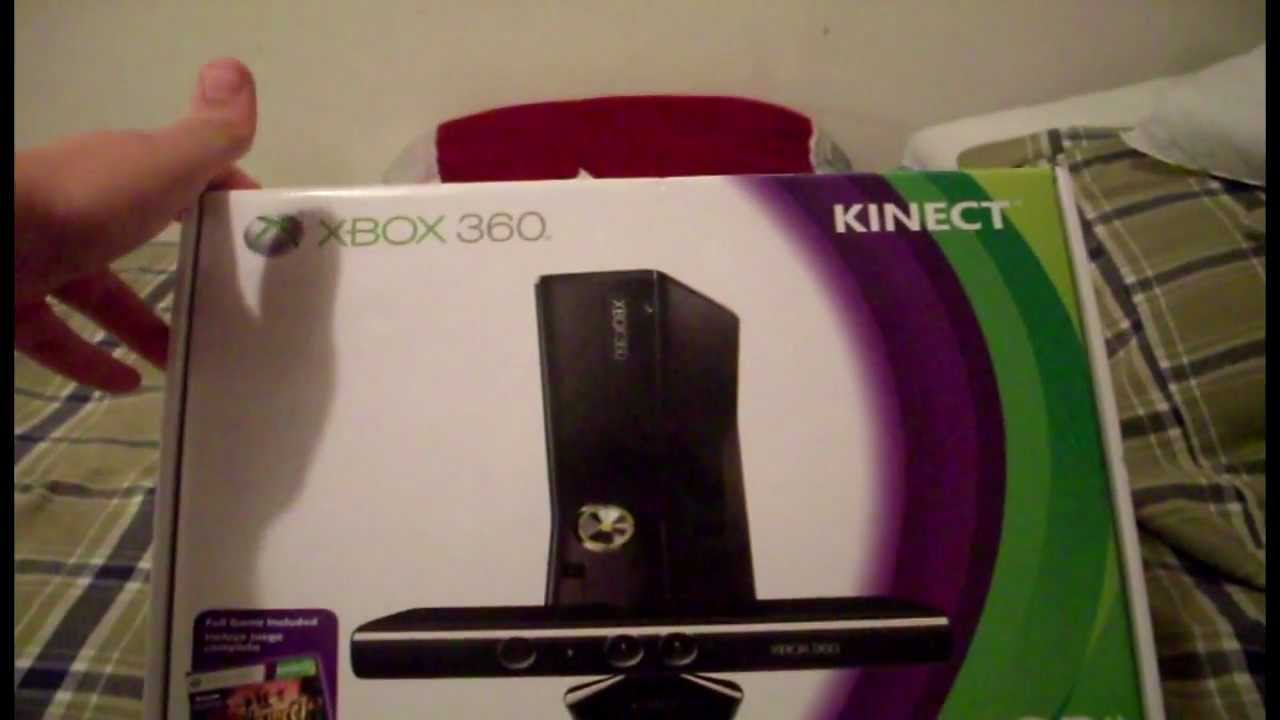 XBOX 360 S 4GB Kinect Bundle Pack Unboxing
