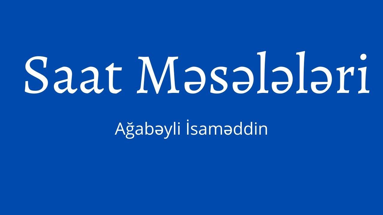 Səhifə nömrələmək - 1.Ağabəyli İsaməddin.