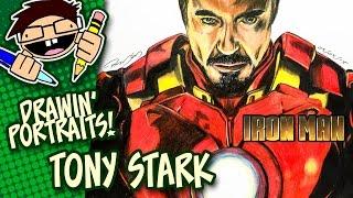 Portrait Drawing TONY STARK (IRON MAN)