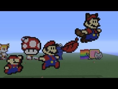 Minecraft Pixel Art: Mario Tutorials