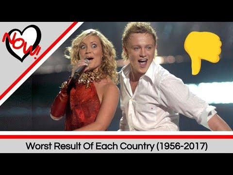 Each Countrys Worst Result 19562017  Eurovision