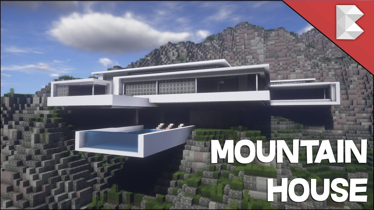 Minecraft  Modern Mountain House   Infinity Pool - Build Tour W   Keralis