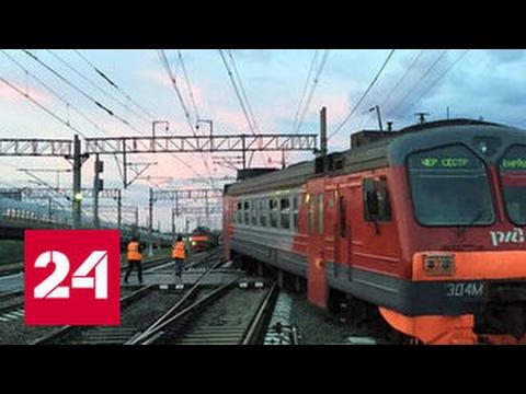 Из-за схода с рельсов электрички в Петербурге задерживаются два поезда