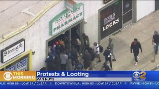 Looters Hit Hollywood, Van Nuys Amid Peaceful Protests