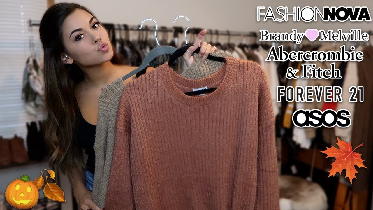 NEW FALL CLOTHES TRY ON HAUL (: