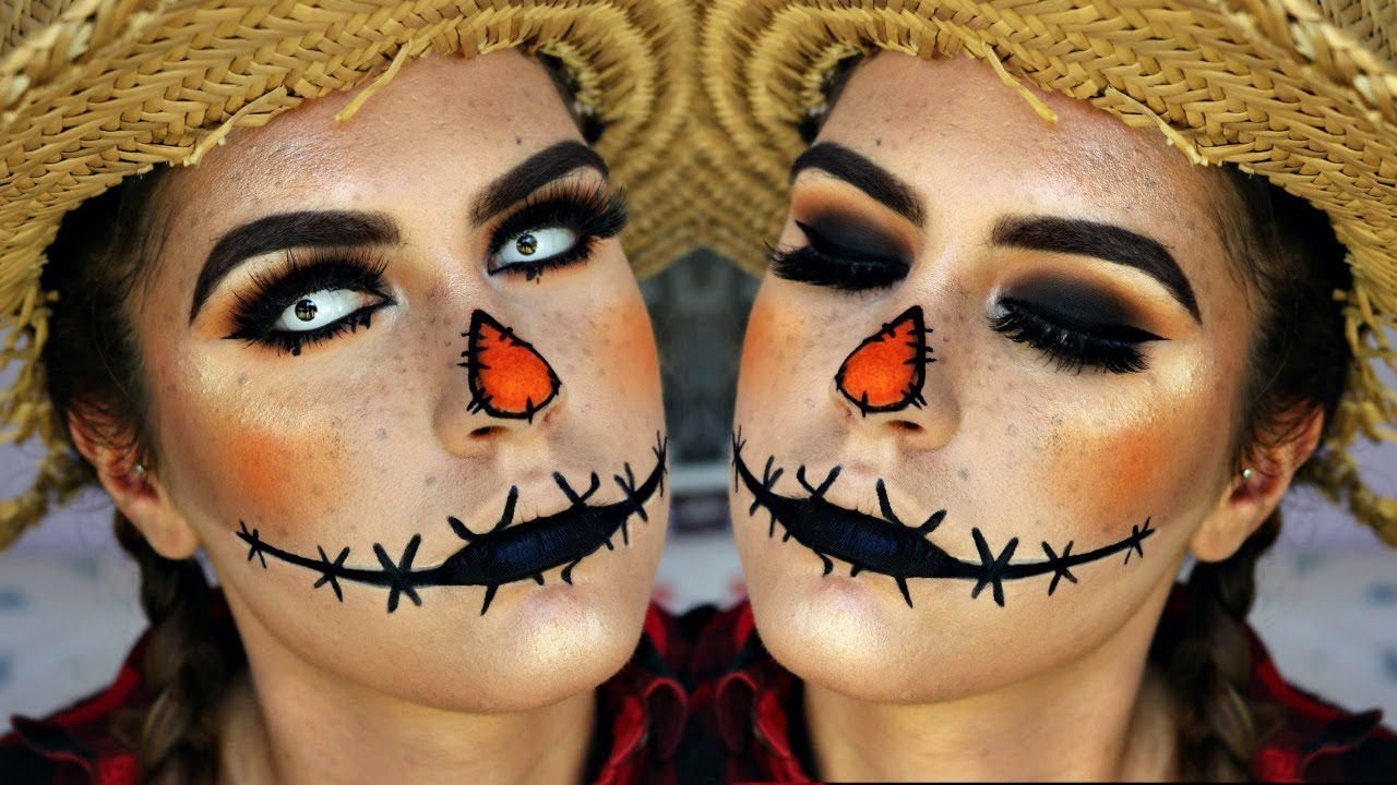 Scary Glam Scarecrow Halloween Makeup 2017 Youtube
